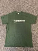 Dub Vendor Reggae Specialist T-Shirt - Classic Logo - Forest Green / White (Various Sizes)